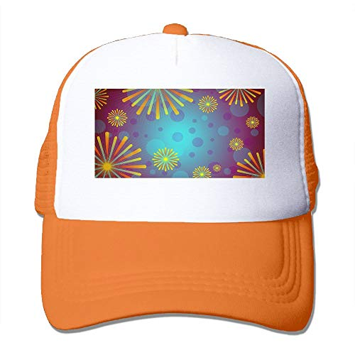 Unisex Colorful Fireworks Trucker Cap Suitable for, used for sale  Delivered anywhere in USA