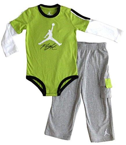 Nike Jordan Infants Boys Long Sleeve Bodysuit and Pants 2 Pcs Layette
