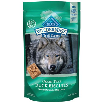 Blue Buffalo Wilderness Trail Treats Grain Free Duck Dog Biscuits, 10-Ounce, My Pet Supplies