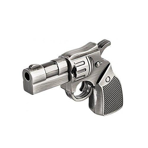 Phoenixnet Silver Gun USB Flash Drive USB 2.0 Gun Design USB Memory Stick Unique Design Suitable for Gifts, 8G
