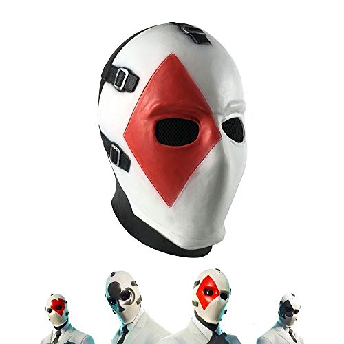 Vercico Square Poker Face Mask Carnival Christmas Halloween