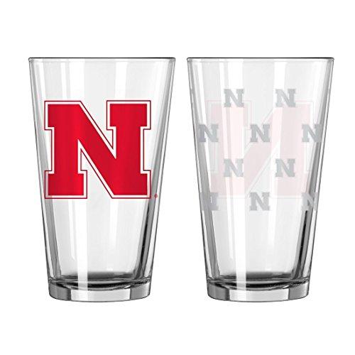 (Nebraska Cornhuskers Satin Etch Pint Glass Set)