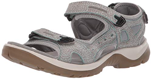 ECCO Women's Yucatan outdoor offroad hiking sandal, ice flower/cocoa brown, 5-5.5 M US