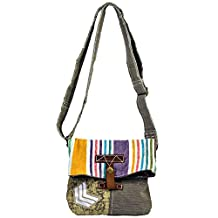 Vintage Boho Crossbody made from Recycled Canvas Tents