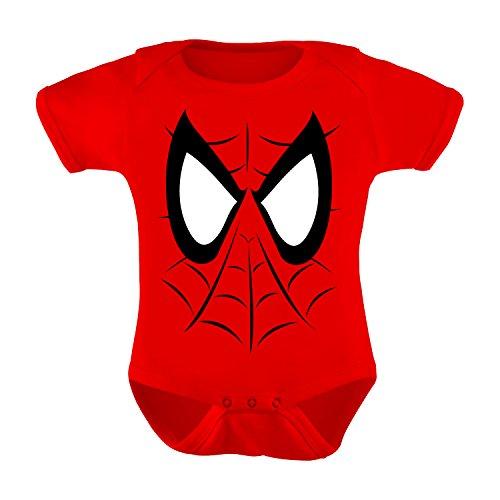 Spider-Man Infant Bodysuit Costume for Babies - Great Halloween Romper for Kids (Newborn) Red]()