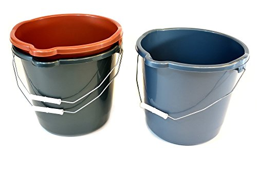 K&C Products  Heavy-Duty Utility Pail, 12 quart, 6-Pack, Assorted (12 Quart Bucket)