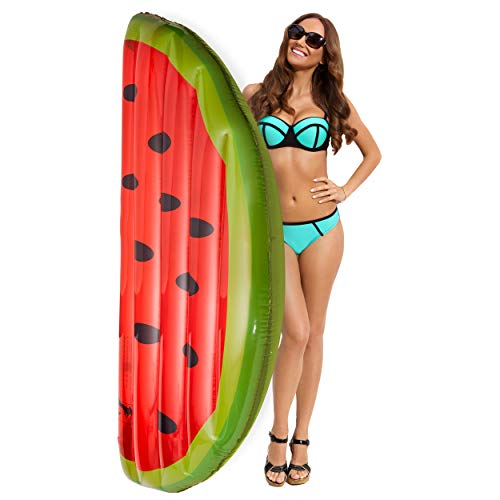 Koltose by Mash Watermelon Swimming Pool Float, 5.5 Foot Pool Float for Adults, Teens, and Kids, Lounger Pool Raft Floatie for Pool Parties, Swimming Pool Accessories