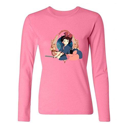 Women's Kiki's Delivery Service Jiji DIY Cotton Long Sleeve T Shirt