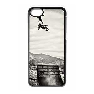 iPhone 5C Case Black Motocross Cell Phone Case Cover U2Q7DL