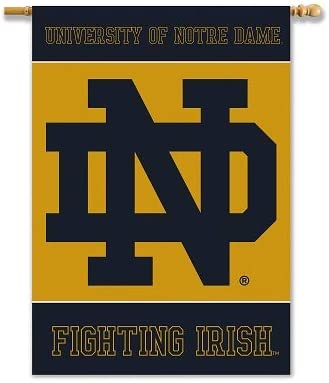 "B000K8W316 Notre Dame Fighting Irish 2-Sided 28"" X 40"" Banner W/ Pole Sleeve - NCAA 41OSSS2BZqlL"