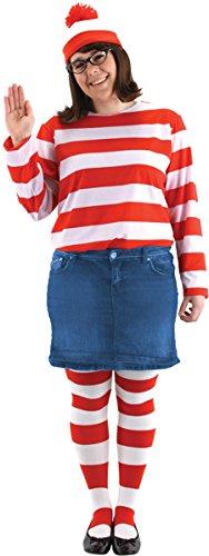 elope Women's Where's Waldo Wenda Pls Sz Kit, 2X (Waldo Girl Halloween Costume)