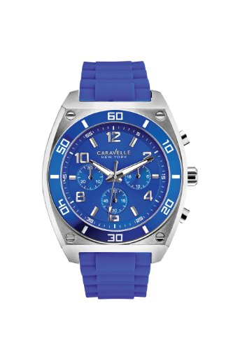 Caravelle New York Men's 45A115 Analog Display Japanese Quartz Blue Watch - Caravelle Blue Watch