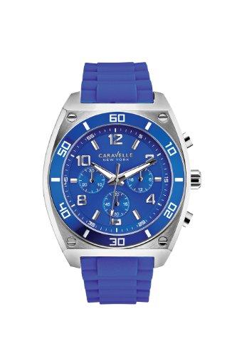 Caravelle New York Men's 45A115 Analog Display Japanese Quartz Blue Watch - Caravelle Blue Watch