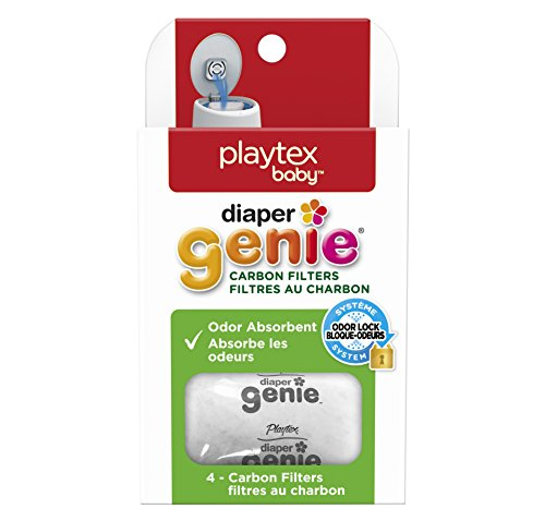 Playtex Diaper Genie Carbon Filters Refill Tray, White, Pack of 4