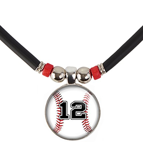 (Baseball Player Necklace Personalized with Jersey Number, Custom Baseball Jersey Number Pendant Jewelry )