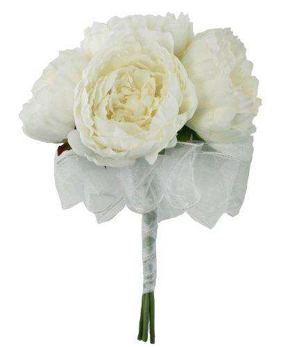Ivory-Silk-Peony-Hand-Tie-6-Peonies-Bridal-Wedding-Bouquet
