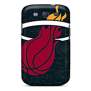 Best Cell-phone Hard Cover For Samsung Galaxy S3 With Unique Design High-definition Miami Heat Pictures SherieHallborg