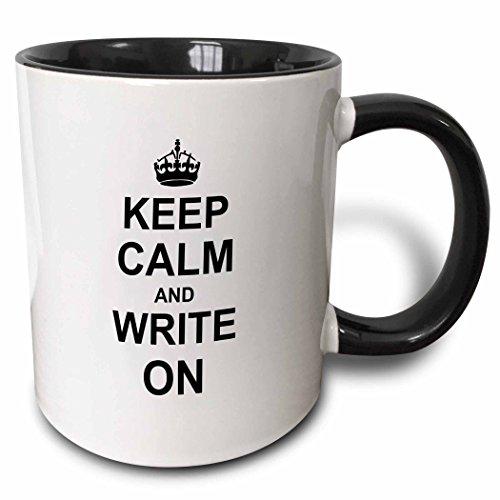 3dRose mug_157787_4 Keep Calm Write