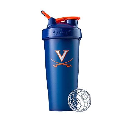 Virginia Cavaliers University - BlenderBottle Collegiate Classic 28-Ounce Shaker Bottle, University of Virginia Cavaliers - Blue/Blue