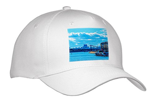 Alexis Photo-Art - Moscow City - Moscow Digital Art - The Moscow River and City View In Summer - Caps - Adult Baseball Cap (River City Cap)