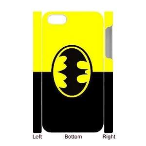 batman Logo illustration iPhone 4 4s Cell Phone Case 3D White yyfD-370371
