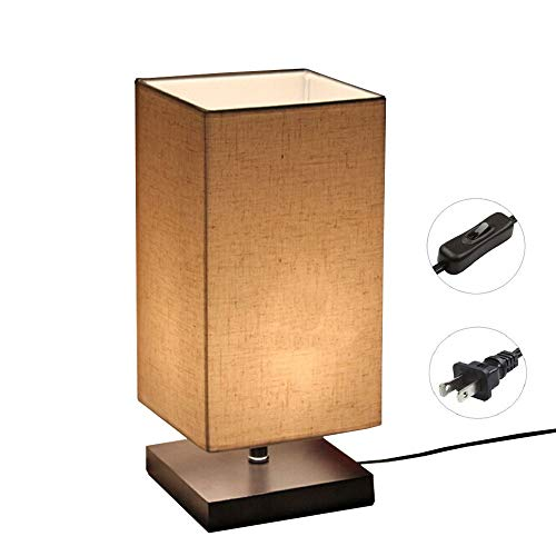 Cheap  Minimalist Solid Wood Table Lamp Bedside Desk Lamp