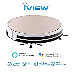 Amazon Iview Wifi Smart Robot Vacuum Cleaner Works Alexa Google Assistant Cleaning