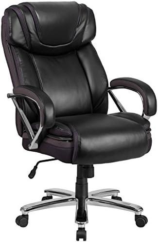 Flash Furniture HERCULES Series Big Tall 500 lb. Rated Black LeatherSoft Executive Swivel Ergonomic Office Chair