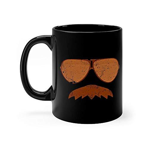 (Da Bears - Ditka Mustache with Aviators Mug Coffee Mug 11oz Gift Tea Cups 11oz Ceramic Funny)