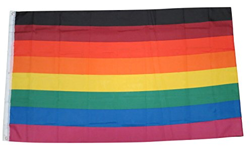 TrendyLuz Flags Rainbow Pride Flag 8 Stripes Black Brown Phi