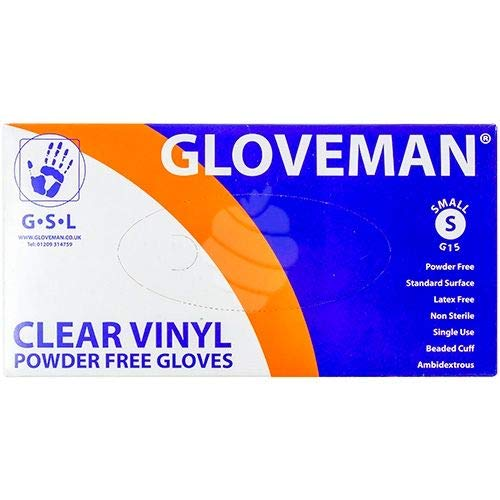 NON LATEX AND CLEAR Medium or Large100 GLOVES IN BOX POWDER FREE 1, small VINYL GLOVES Small NEW