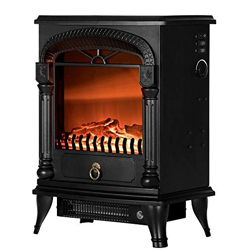 Cheap MMJ Portable Electric Fireplace 110V 20-inch Retro Fireplace Let You Have A Warm Winter Can Give Your Loved One Black Friday & Cyber Monday 2019