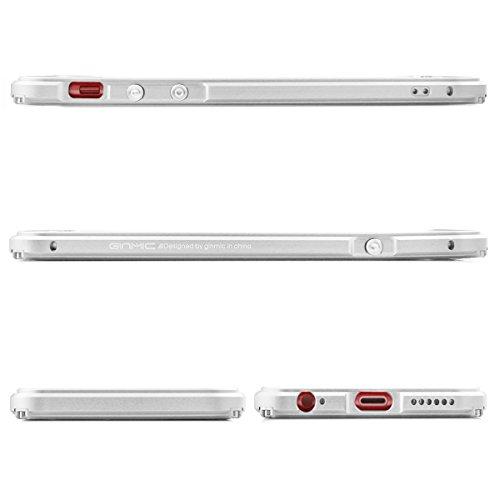 Alienwork Coque pour iPhone 6/6s Anti chocs Case Etuis Housse Aluminium argent AP6S11-02
