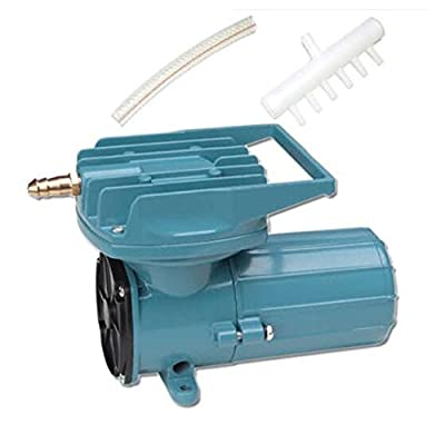 HEALiNK DC 12V Permanent Magnetic Air Compressor Pump for Fish Pond Hydroponics Aquaculture Oxygen 68L/Min