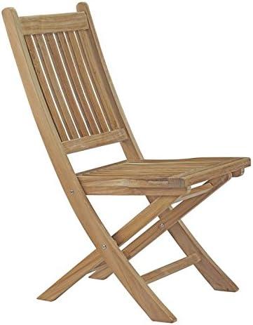 Modway EEI-2702-NAT Marina Premium Grade A Teak Wood Outdoor Patio Folding Chair, Natural