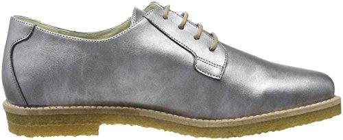 de Plata para Mujer Jonny`s Cordones Derby Zapatos Silber Hedvig Vegan zTYwT1t
