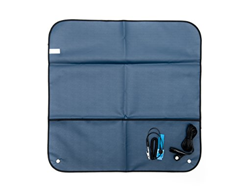 (Bertech ESD Portable Field Service Kit with a Wrist Strap and Grounding Cord, 2' Wide x 2' Long, Blue (Made in USA))