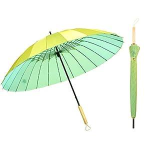 Kung Fu Smith Vintage Parasol Rain Umbrella – Wooden Handle Windproof
