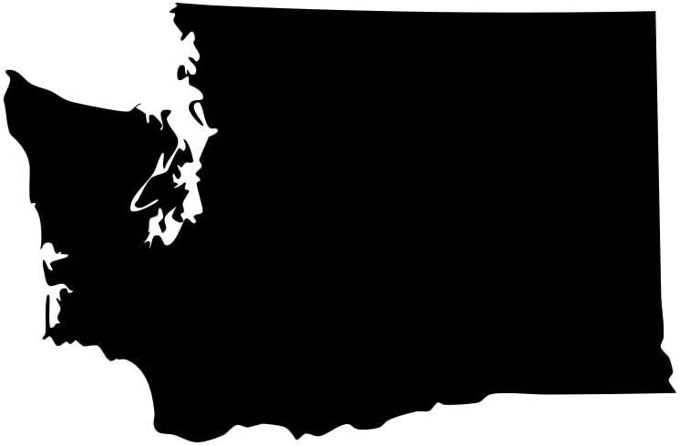 """Washington Evergreen State Husky Pride Decal Sticker - Black 5"""" Vinyl Decal for Cars, Macbooks, and Other Laptops"""