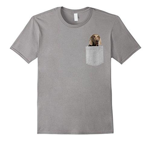 Mens Dog in Your Pocket Weimaraners t shirt shirt Medium Slate