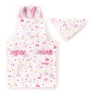86352c10dac97 バッククロス子供用 エプロン100-120 三角巾付き プリンセスドレスで彩るパウダールーム