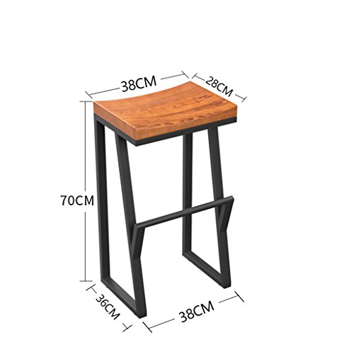 Amazon.com: Chair Bar Stools Breakfast Chairs Family Wrought Iron Chairs Nordic Style Solid Wood Cushions High Stools Front Desk Chairs Computer Chairs ...