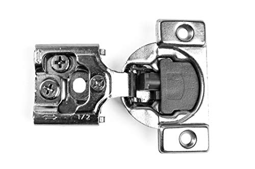 30 Pack Berta, Face Frame, Compact Contractors Grade Hinge with Soft Close Feature, 6-Ways 3-cam Adjustment, 1/2 inch Overlay, Concealed Cabinet Door Hinges with Built-in Soft Close - 105 Degree