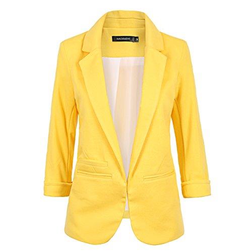 my-wonderful-world-womens-v-neck-coat-lapel-blazer-large-lemon-yellow