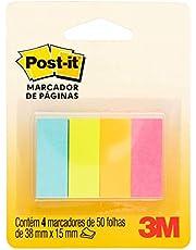 Marcador de Página de Papel Post-it 38 mm x 15 mm - 4 Blocos