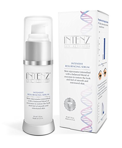 INTENZ Resurfacing Serum with Snow Algae and Triple Vitamin C Complex - Natural and Safe Ingredients to Repair Skin and Increase Cell Turnover (30 mL Bottle)