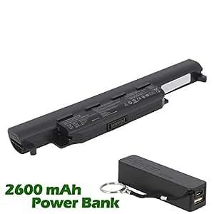 Battpit Bateria de repuesto para portátiles Asus A55A (4400mah / 49wh) con 2600mAh Banco de energía / batería externa (negro) para Smartphone