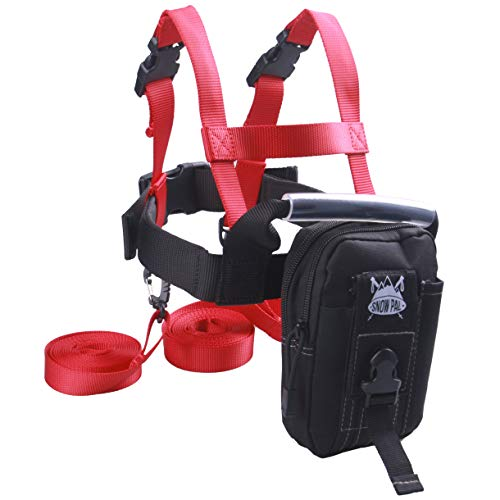 (GSM Brands Ski Trainer Harness with Leash for Teaching Kids Skiing Safely)