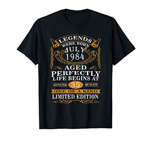 Legend Were Born July 1984 T-Shirt Vintage 35th Birthday