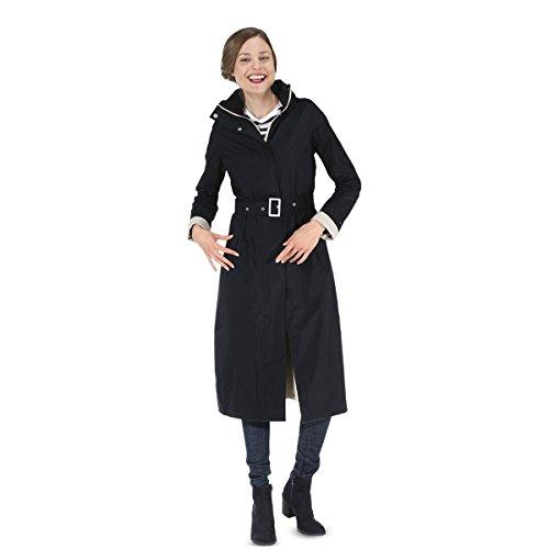 Happy Rainy Days Women's Long Jacket, Black, XX Large